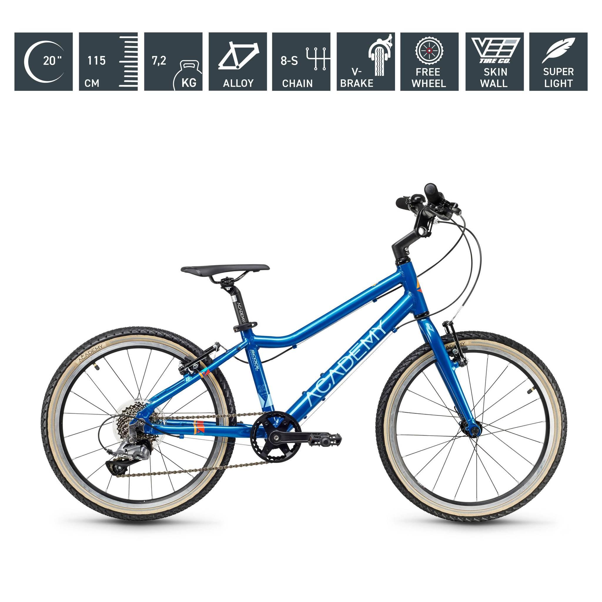S`COOL  ACADEMY 20 Zoll - Grade 4 - 8-Gang blau
