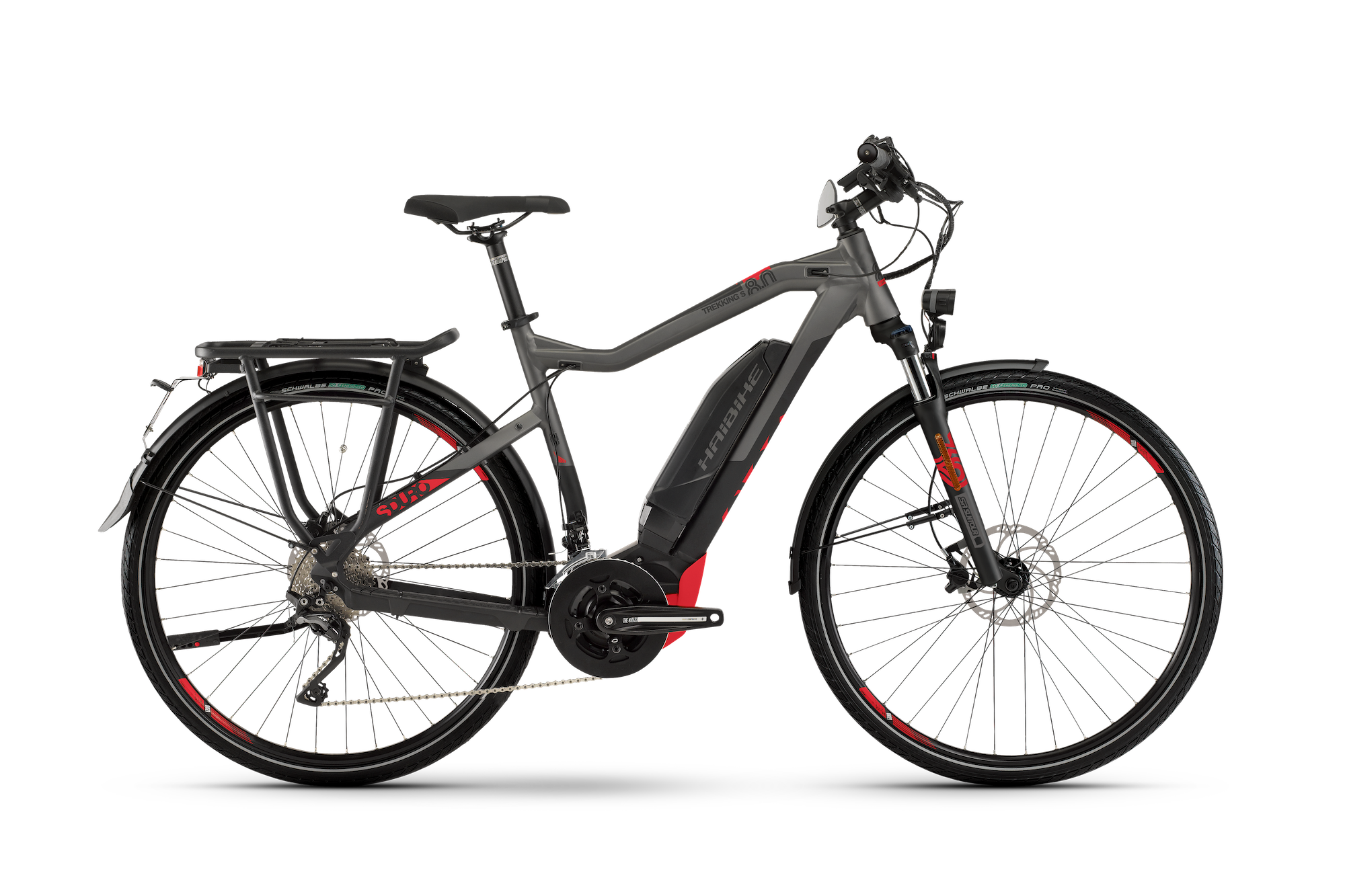Haibike SDURO TREKKING S 8.0 500Wh schwarz-titan-rot-matt 2020