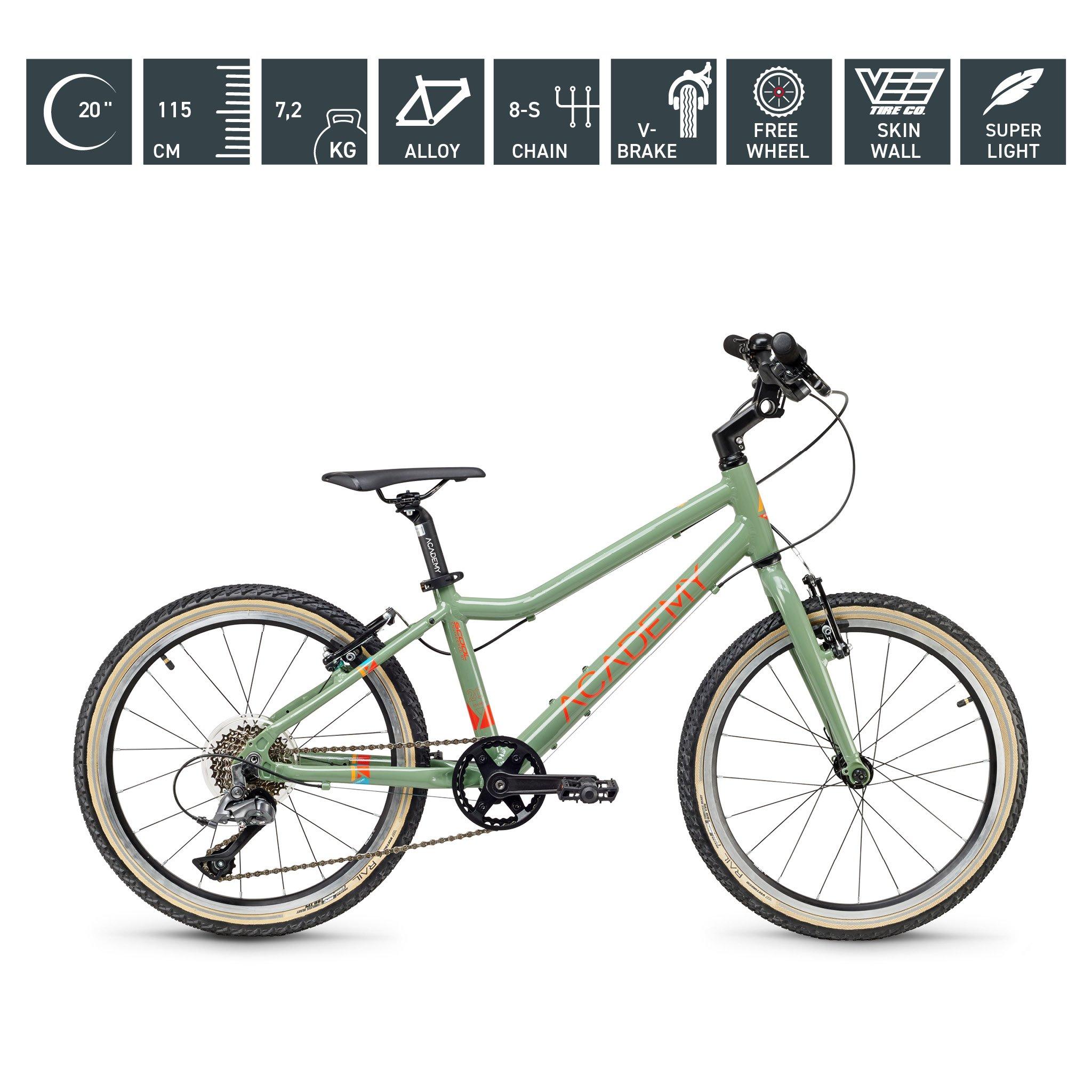 S`COOL  ACADEMY 20 Zoll - Grade 4 - 8-Gang - grün